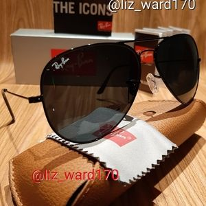 Ray-Ban Aviator Classic Black RB3025 Authentic New